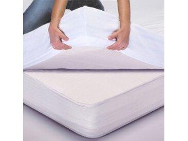 Protège-matelas 2 pers : 160x200cmtaupe  Protège-matelas Tencel®