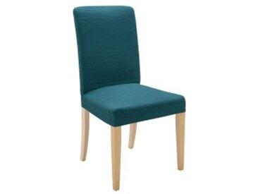 Housse de chaisebleu canard  Housse chaise extensible