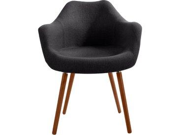 Chaise scandinave en tissu gris foncé - Anssen