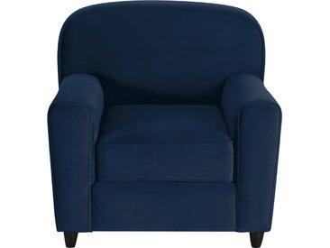 Fauteuil club en velours bleu foncé - Gigi