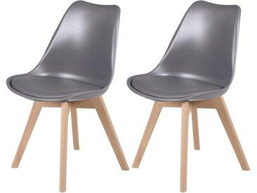 Chaise scandinave gris foncé (lot de 2) - Skandi