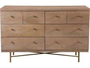 Commode en bois de manguier 8 tiroirs et pieds en métal - Bran