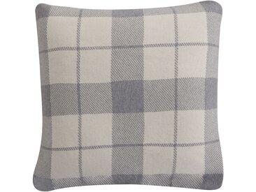 Housse de coussin grise à carreaux 50x50 cm - Hubert