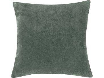 Housse de coussin en velours vert amande 45x45 cm - Lingi