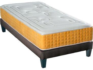 Pack matelas + sommier + pieds 90x190 cm - Sirrinos