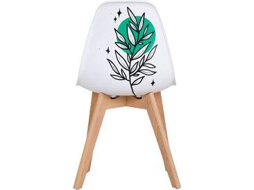 Chaise scandinave modèle unique d'artiste - Osmosis by Derzek