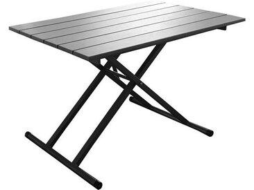 Table de jardin grise relevable 39 à 74 cm de hauteur, 2 à 4 personnes - Pump