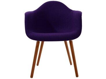 Chaise scandinave en tissu violet - Jeanne