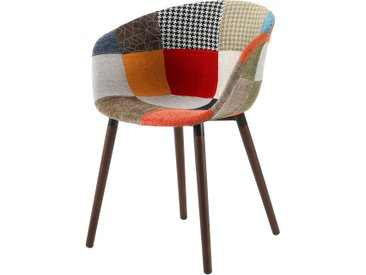 Soldes - Chaise Dolly patchwork multicolore
