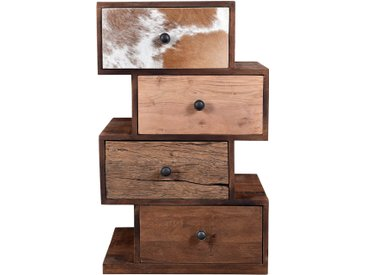 Chiffonier en bois et en métal 4 tiroirs - Zig Zag Tanesh