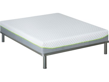 Pack matelas + sommier + pieds grand confort 160x200 cm - Anthea