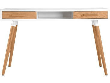 Bureau scandinave en chêne blanc à 2 tiroirs - Vejen