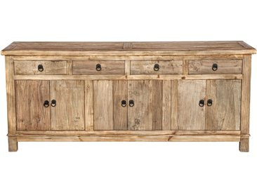 Buffet rectangulaire en bois 3 portes et 4 tiroirs - Mastic