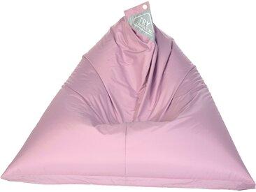 Pouf inclinable XL intérieur/extérieur en triangle rose -