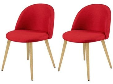 Chaise Cozy rouge (lot de 2)