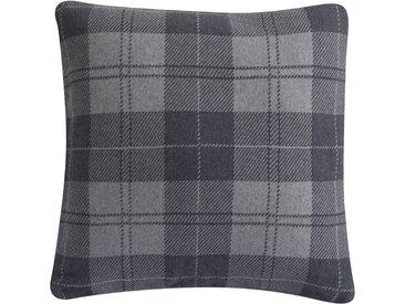 Housse de coussin grise à carreaux 50x50 cm - Léopold