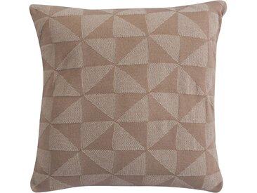Housse de coussin beige triangle 50x50 cm - Albert