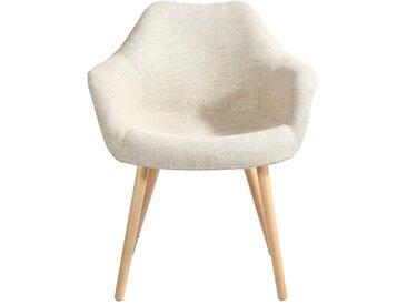 Chaise scandinave en tissu beige - Anssen
