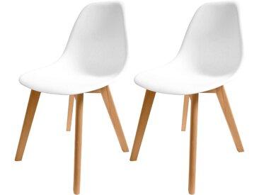 Chaise scandinave blanche (lot de 2) - Randers