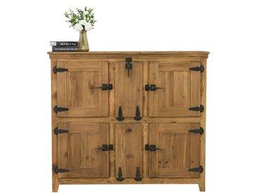 Buffet haut industriel en bois de cèdre recyclé 6 portes - Hyppo
