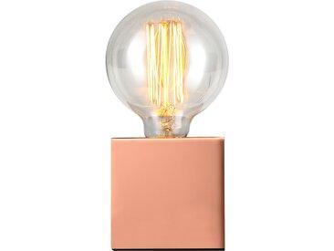 Lampe à poser déco cube en métal finition cuivre (ampoule incluse) - Zelda
