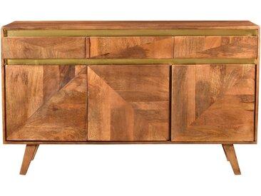 Buffet en bois détails dorés 3 portes 3 tiroirs - Tripoli
