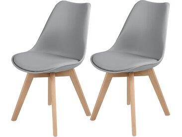 Chaise scandinave gris clair (lot de 2) - Skandi
