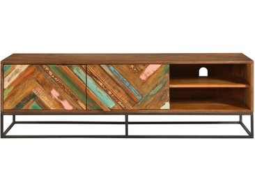 Meuble TV en bois d'acacia et bois recyclé - Krabi