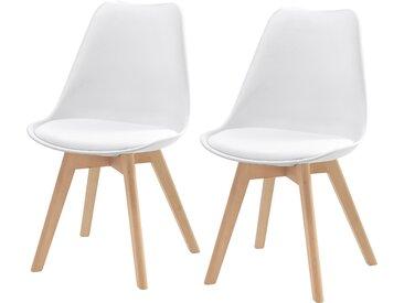 Chaise scandinave blanche (lot de 2) - Skandi