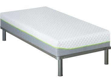 Pack matelas + sommier + pieds grand confort 90x190 cm - Anthea