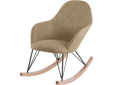 Rocking chair en tissu beige - Malibu