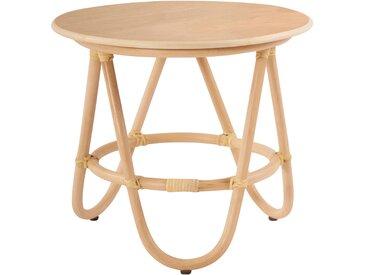 Petite table d'appoint ronde en rotin - Titou