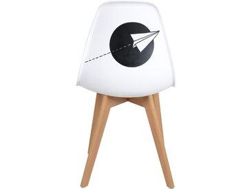Chaise scandinave modèle unique d'artiste - Voyage by Derzek