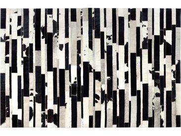 Tapis cuir noir et blanc 140x200 cm - Vivek