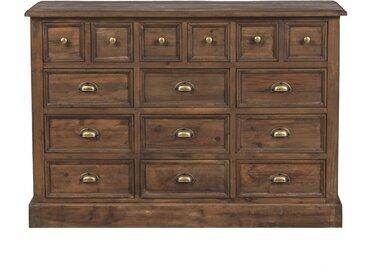 Commode à 15 tiroirs en bois recyclé et métal - Akka