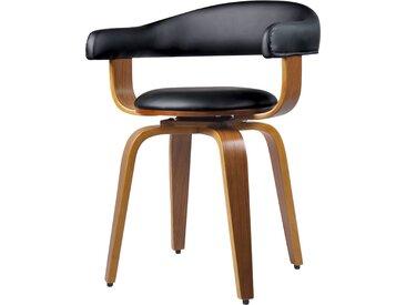 Chaise noire Harold avec accoudoirs