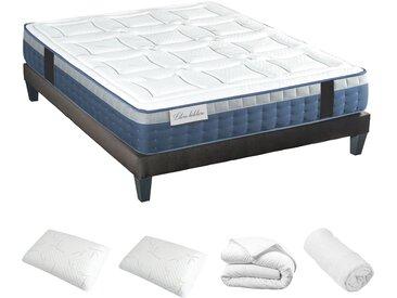 Ensemble prêt à dormir (matelas + sommier + oreiller + couette + protège matelas) 180x200 cm - Athènes