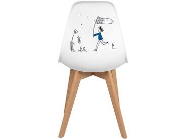 Chaise scandinave modèle unique d'artiste - Let's play by Mariisore