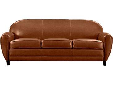Canapé 3 places en croûte de cuir Camel - Club