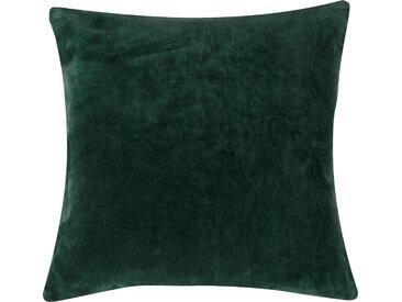 Housse de coussin en velours vert sapin 45x45 cm - Lingi