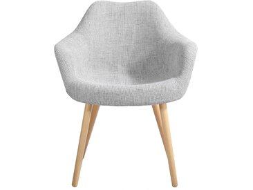Chaise scandinave en tissu gris - Anssen