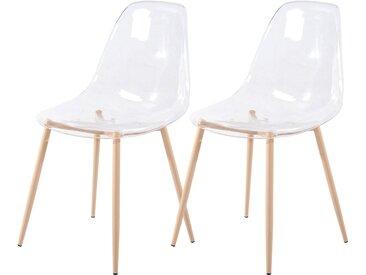 Chaise scandinave transparente (lot de 2) - Fredrik