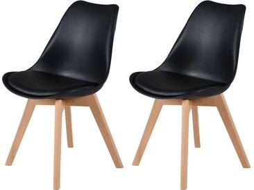 Chaise scandinave noire (lot de 2) - Skandi