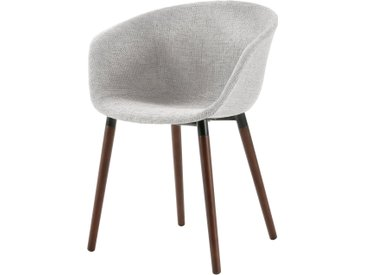Chaise scandinave en tissu gris clair - Dolly
