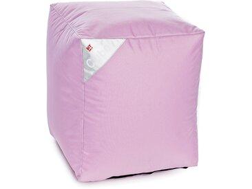 Pouf d'extérieur rose - Cube