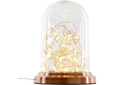 Lampe à poser cuivre cloche en verre hauteur 30 cm - Lucios