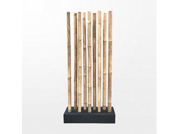 Paravent en bambou coloré et atypique de 97 x 30 x 220 cm