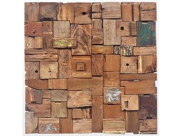 Tableau en bois ethnique coloré