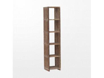 Bibliothèque en bois en escalier de 5 niveaux