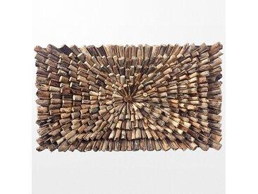 Tableau décoratif en bois massif tropical